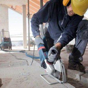 Обработка бетона болгаркой