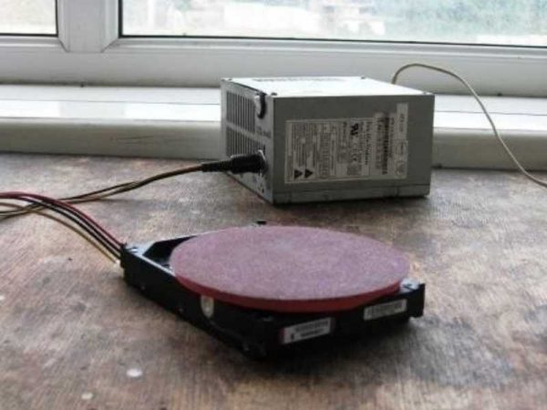 Шлифмашинка из жесткого диска
