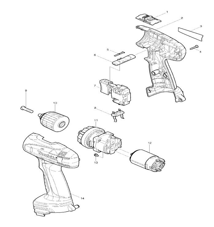 схема шуруповерта 6271D
