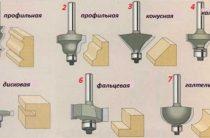 Разновидности фрез для ручных фрезеров: кромочная фальцевая, по дереву, торцевая, концевая и др.