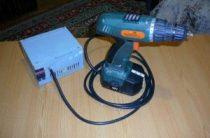 Аккумуляторный шуруповерт с блоком питания от сети своими руками